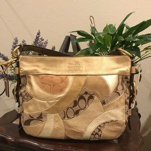 Zoe Gold patchwork COACH